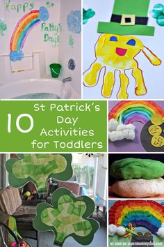Some wonderful St Patrick's Day activities for toddlers - and older kids too!