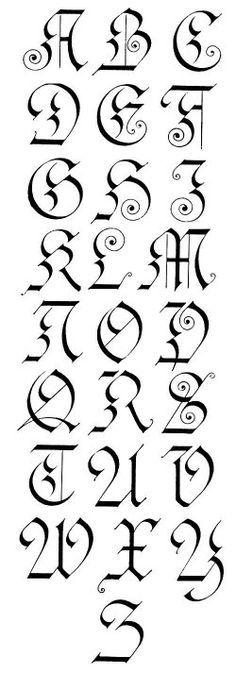 Gothic Calligraphy...