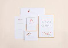 Wedding Invitation / Floral / Pastel