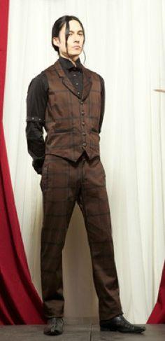Men's steampunk vest