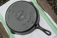Griswold Cast Iron Skillet, made in Erie, PA - I have been using cast iron cookware since I've been old enough to cook - about 40 years... Source: http://accordingtobrian.com/castiron