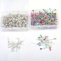 Pearlized Bead Pins Rosette Craft Dress Maker Sewing Scarf Needlework New