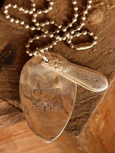 Stamped Silverware Necklace