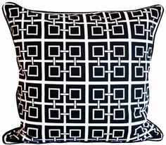 Shanghai black kuddfodral på Nordic Design Collective Nordic Design, Scandinavian Design, Black Cushions, Sheer Curtains, Shanghai, Stockholm, Home Accessories, Monochrome, Throw Pillows