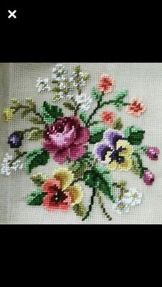 Cross Stitch Heart, Cross Stitch Borders, Cross Stitch Flowers, Cross Stitch Designs, Cross Stitch Patterns, Beginner Quilt Patterns, Quilting For Beginners, Cross Stitch Cushion, Cross Stitch Tutorial