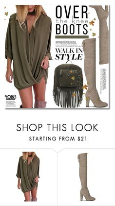 """""""Fall Footwear: Over-The-Knee Boots"""" by svijetlana ❤ liked on Polyvore"""