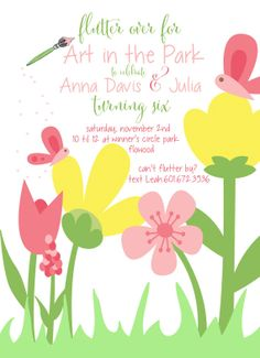 Art in the Park or butterfly birthday