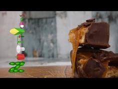 Σοκολατάκια με φυστικοβούτυρο και καραμέλα (Peanut butter and caramel candy bars) - YouTube Caramel, Pudding, Youtube, Desserts, Food, Candy, Deserts, Custard Pudding, Puddings