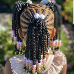Little Girls Natural Hairstyles, Toddler Braided Hairstyles, Cute Little Girl Hairstyles, Black Kids Hairstyles, Cute Girls Hairstyles, Children Hairstyles, Little Girl Braid Styles, Little Girl Braids, Braids For Kids