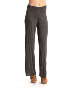 Love this Charcoal Gray Palazzo Pants on #zulily! #zulilyfinds