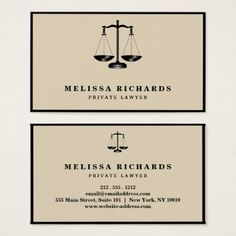Classic Lawyer  Attorney Business Card - professional gifts custom personal diy