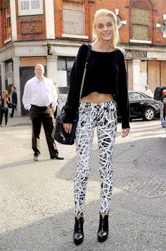 fierce pants Jess. #JessicaStam #offduty