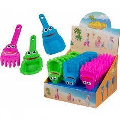 farbige Schaufeln und Rechen mit Gesicht für den Sandkasten Office Supplies, Sandbox, Bucket, Rolling Stock, Face