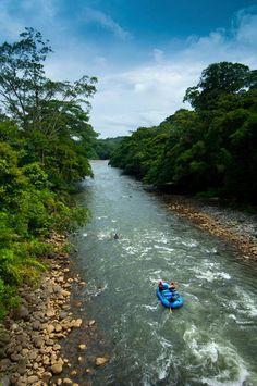 Sarapiqui, Costa Rica. we white water rafted here.