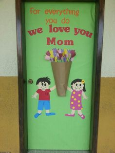 Mother's day door decor Mothers Day Decor, Mothers Day Crafts For Kids, Mothers Day Cards, Eyfs Activities, Activities For Kids, Classroom Crafts, Preschool Crafts, Mother's Day Theme, School Library Displays