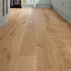 Pre-Finished Fast Fit Oak single plank (130mm) flooring - Howdens can be used in kitchen and with undefloor heating