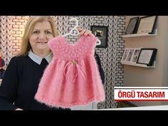 Minik Bebeler İçin Robadan Elbise Modeli - YouTube Crochet Baby, Knit Crochet, Flower Girl Dresses, Youtube, Summer Dresses, Knitting, Wedding Dresses, Baby Girls, Fashion