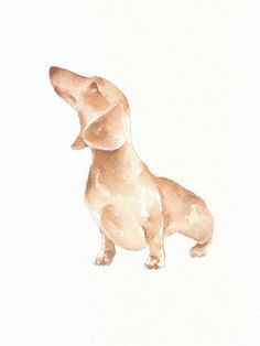 Dog dog print animal print giclee art Watercolor by ChiFungW