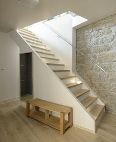 Image 3 of 26 from gallery of House / CUBE. Photograph by Alexandr Hudeček Entryway Flooring, Home Projects, Architecture Design, Cube, Stairs, Gallery, Photograph, Home Decor, Image