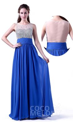 $95. Chiffon royal blue #promdress #cocomelody. All colors available.