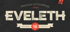 Eveleth font by Yellow Design Studio – rich in texture retro Caps