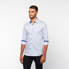 Jacquard Button-Down Shirt // Blue (S)