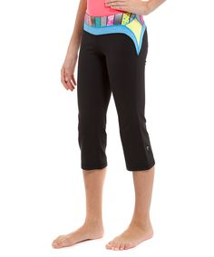 Black & Kayak Stripe-O-Rama Routine Crop from ivivva athletica by lululemon on #zulily! #Fall Essentials