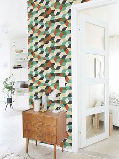 Removable self-adhesive modern vinyl Wallpaper by PatPrintbyAmy