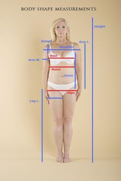 Body Shape Measurements: Learn how to accurately get your body shape measurements and find out more about your body shape! Whether you're ordering clothes online, making custom made clothes, or calculating your body shape, taking accurate measurements are important.