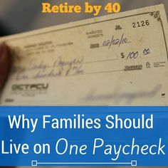Why Families Should Live on One Paycheck