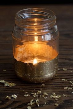 DIY Candles DIY Gold Leaf Candle Jars DIY Candles