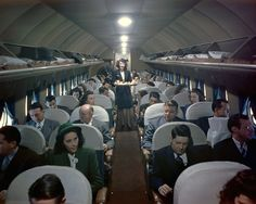 Vintage Aircraft Delta interior 1946 with Stewardess. I can travel faster, cheaper, and safer nowadays but not with the same comfort and civilized environment. I'd sacrifice a little speed and economy for more of the latter. Douglas Dc 4, Vintage Air, Vintage Cups, Vintage Dress, Aircraft Interiors, Alaska Airlines, Air Festival, Airplane Travel, Civil Aviation