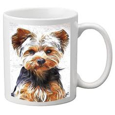 Yorkshire Terrier 'Lupis'  Ceramic Coffee/Latte Mugs  by DoggyLips  - 2 Sizes by DoggyLips on Etsy