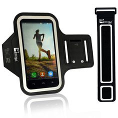 """Premium Running Armband for iPhone 6/6s & Samsung Galaxy S7/S6/S5. Arm band Phone Case for Runners, Fitness, Gym Workouts & Sports (Small 9"""" - Large 20"""" Arms). SWEAT & WATER RESISTANT - The No1 complaint with other Armbands is that sweat can damage your phone. NO MORE!! Our New ADVANCED Neoprene material will stop sweat from getting to your phone. Also the neoprene is super Grippy and it will NOT fall down your arm during exercise. Don't risk your $$$ Smartphone? Treat yourself to the…"""