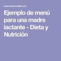 alimentacion para madres lactantes pdf