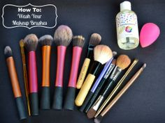How To Clean Your Makeup Brushes + GIVEAWAY