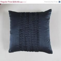 20 OFF navy blue throw pillow cover 18 inch by Comfyheavenpillows, $23.56