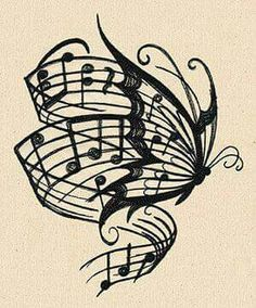 I ❤ this tatoo Music Drawings, Tattoo Drawings, Art Drawings, Awesome Drawings, Music Tattoos, Body Art Tattoos, Tatoos, Bone Tattoos, Future Tattoos