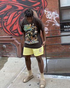 Summer Swag Outfits, Dope Outfits For Guys, Street Style Outfits Men, Black Men Street Fashion, Urban Outfits, Streetwear Fashion, Yeezy, Dress, Inspiration
