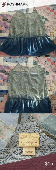 Daytrip ombre Blue floral top Ombre Blue, floral, flowy top with spaghetti straps, size large from the Buckle Daytrip Tops