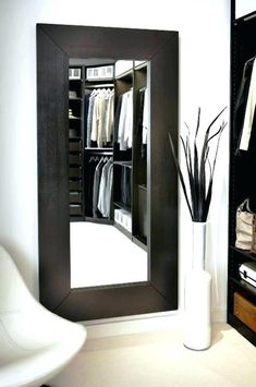 Ikea - mirror leaned against the wall or hung, verticle or horizontal. (Mongstad mirror from IKEA) Table Bureau Ikea, Home Bedroom, Bedroom Decor, Mirror Bedroom, Bedrooms, Master Bedroom, Ikea Bedroom, Br House, Ikea Mirror