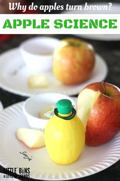 How To Produce Elementary School Much More Enjoyment Apple Science Lemon Juice Experiment For Fall Stem Easy Science Experiments, Science Fair Projects, Science For Kids, Science Fun, Science Ideas, Science Resources, Apple Activities, Autumn Activities For Kids, Learning Activities