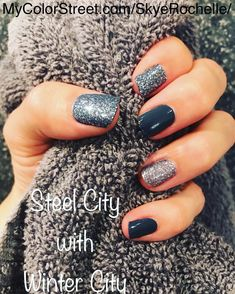 nails 111 beautiful winter nail art designs that will melt your heart page 46 Get Nails, How To Do Nails, Hair And Nails, Colorful Nail Designs, Cool Nail Designs, Color Street Nails, Color Nails, Powder Nails, Manicure And Pedicure