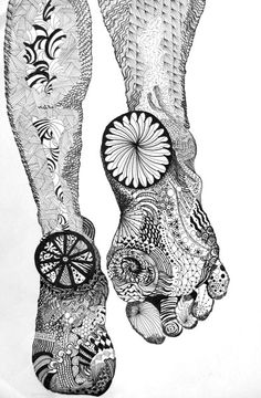 Doodle Anatomy w/ Pen and Ink - Conway High School Art Project