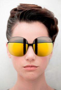 Bigger sunglasses mean more eye protection. This is Blackfin Magnetic for women.