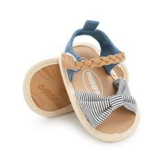 Summer Lovely Comfortable Girls Sandals Lace Rhinestone Soft Sole Comfortable Baby Sandals for Girls Beige 7.5