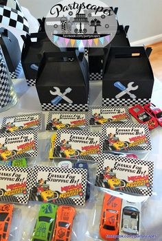 "Mickey and the Roadster Racers Birthday ""Thanks for Stopping By"" Personalized Thank You Tags with Bag by Partyscapes"