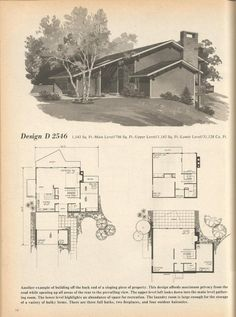 Vintage House Plans, 1960s Houses, Mid Century Homes | House Designs |  Pinterest | Vintage House Plans, 1960s And Mid Century