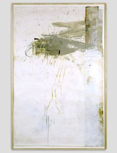 Lawrence Carroll- this work also has the similar quality for backgrounds also with distress showing.
