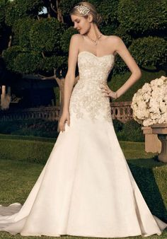 Sweetheart neckline wedding dress with beading | Casablanca 2166 | https://www.theknot.com/fashion/2166-casablanca-bridal-wedding-dress?utm_source=pinterest.com&utm_medium=social&utm_content=may2016&utm_campaign=beauty-fashion&utm_simplereach=?sr_share=pinterest